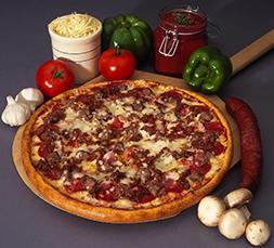 Super Meat Sampler Specialty Pizza